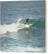 Young Surfers Four Wood Print