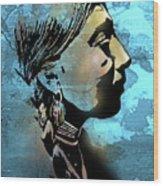 Young Wishram Woman Wood Print
