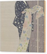 Young Woman In A Summer Kimono, 1920 Wood Print
