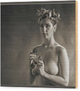 Young Woman Nude 1729.553 Wood Print
