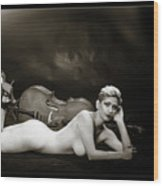 Young Woman Nude 1729.567 Wood Print