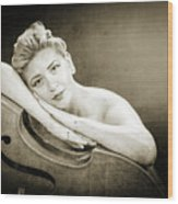 Young Woman Nude 1729.573 Wood Print