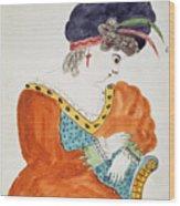 Young Woman Wearing A Turban  Wood Print
