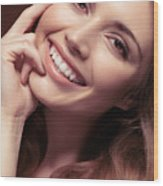 Young Woman With A Natural Smile Wood Print