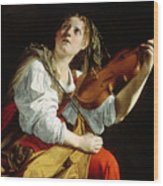 Young Woman With A Violin Wood Print