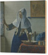 Young Woman With A Water Pitcher  Wood Print