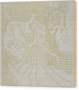Young Woman With Butterfly Wood Print