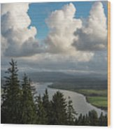 Youngs Bay And Clouds Wood Print
