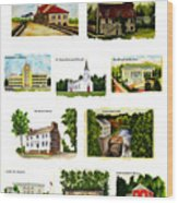 Youngstown Landmarks Montage 2 Wood Print