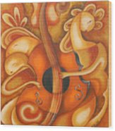 Your Music My Inspiration Wood Print