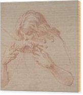 Youth Kissing An Outstretched Hand Wood Print