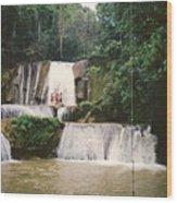 Ys Falls Jamaica Wood Print