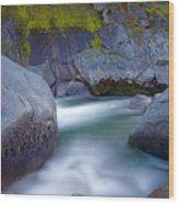 Yuba Flow Wood Print