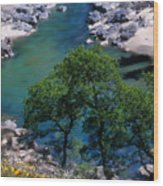 Yuba River In Spring Wood Print