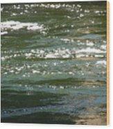 Yuba River Reflections Wood Print