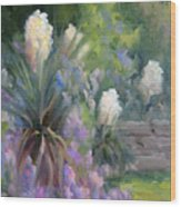 Yucca And Wisteria Wood Print