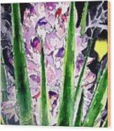 Yucca Flower Plant Southwestern Art Wood Print