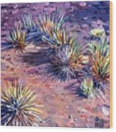 Yucca In Monument Valley Wood Print