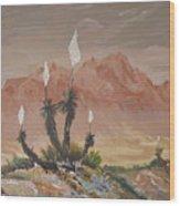 Yuccas In Bloom Wood Print