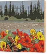 Yukon Flowers Wood Print