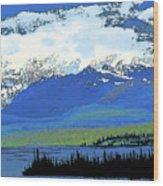 Yukon Mountain Range 3 Wood Print