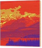 Yukon Mountain Range 4 Wood Print