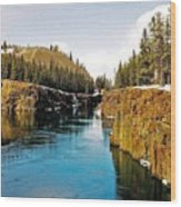 Yukon River And Miles Canyon - Whitehorse Wood Print