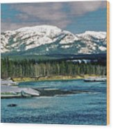 Yukon River Wood Print