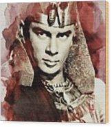 Yul Brynner, Vintage Actor Wood Print