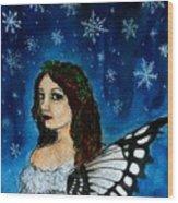 Yuletide Fairy Wood Print