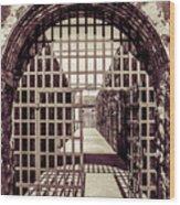 Yuma Territorial Prison Gate Wood Print