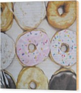 Yummy Donuts Wood Print