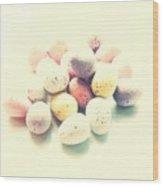 Yummy Mini Eggs Wood Print