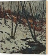 Ywoigne Snow Wood Print