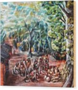 Thanks-giving In A Sacred Shrine Wood Print