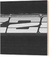 Z28 Logo Noir Wood Print