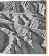 Zabriske Point Death Valley  Bw6398 Wood Print