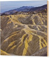 Zabriskie Badlands Wood Print