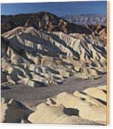Zabriskie Point In Death Valley Wood Print