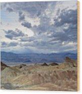 Zabriskie Point Twilight Death Valley Wood Print