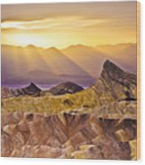 Zabriskie Sunset Wood Print