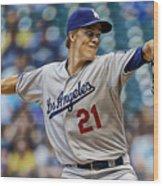 Zack Greinke Los Angeles Dodgers Wood Print