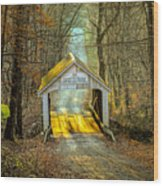 Zacke Cox Covered Bridge Wood Print