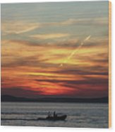 Zadar Sunset Wood Print