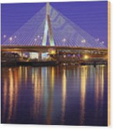 Zakim At Twilight II Wood Print