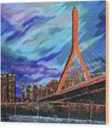 Zakim Bridge - Boston Wood Print