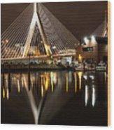 Zakim Bridge Wood Print