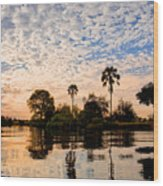 Zambezi Sunset Wood Print