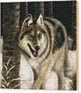 Zane Gray Wolf Wood Print