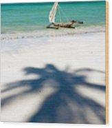 Zanzibar Beach Wood Print